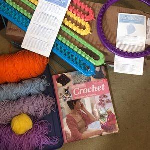 Crochet, loom knitting hobby set